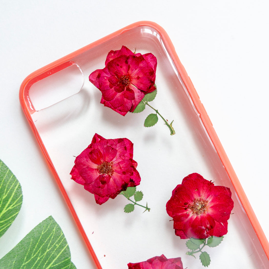 Sweet Roses | Pressed Flower iPhone Bumper Case | iPhone 7/8