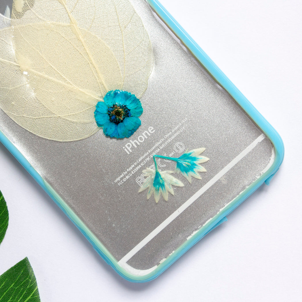 Blue Wings | Pressed Flower iPhone Bumper Case | iPhone 6/6s Plus