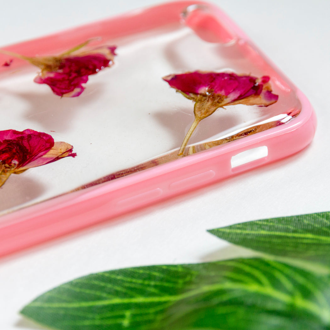 Cherry Rose | Pressed Flower iPhone Bumper Case | iPhone 6/6s
