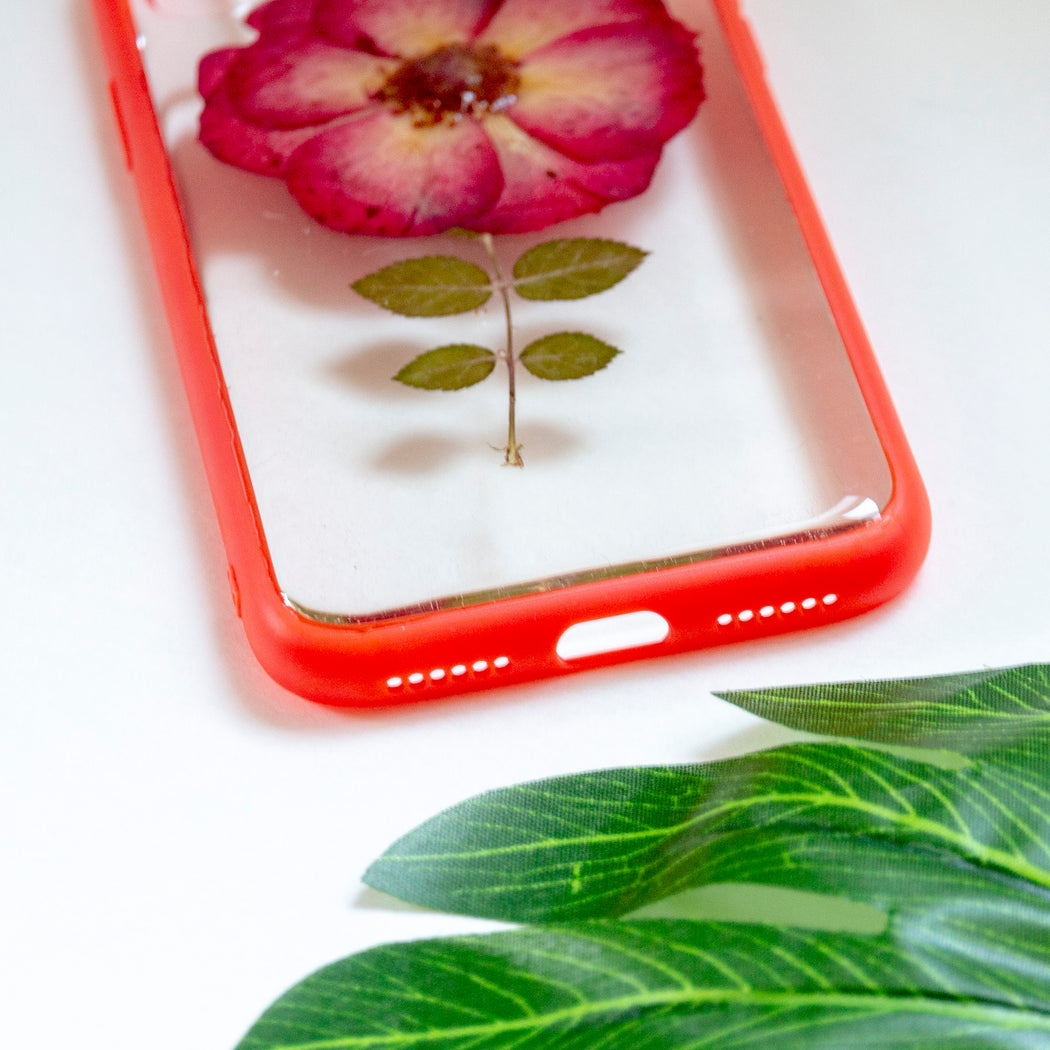 floral neverland forever bloom pressed rose flower floral foliage botanical iPhone X bumper case 06