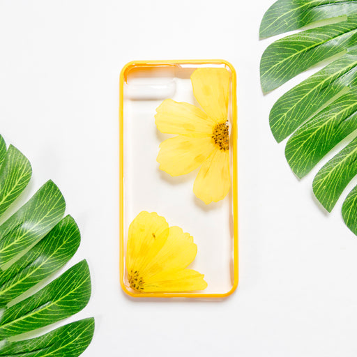Golden | Pressed Flower iPhone Bumper Case | iPhone 7/8 Plus