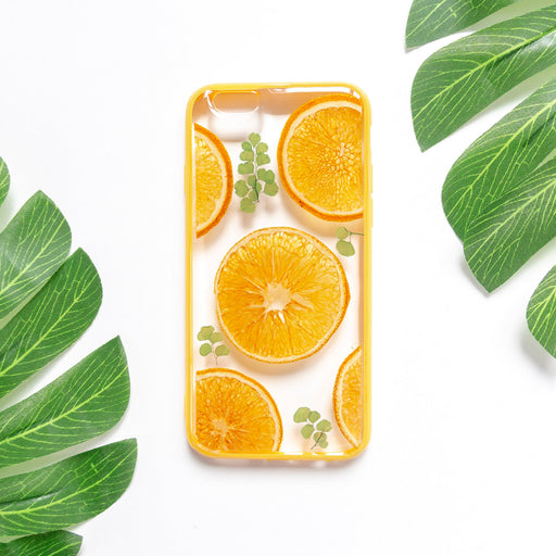 Orange Garden | Pressed Flower iPhone Bumper Case | iPhone 6/6s