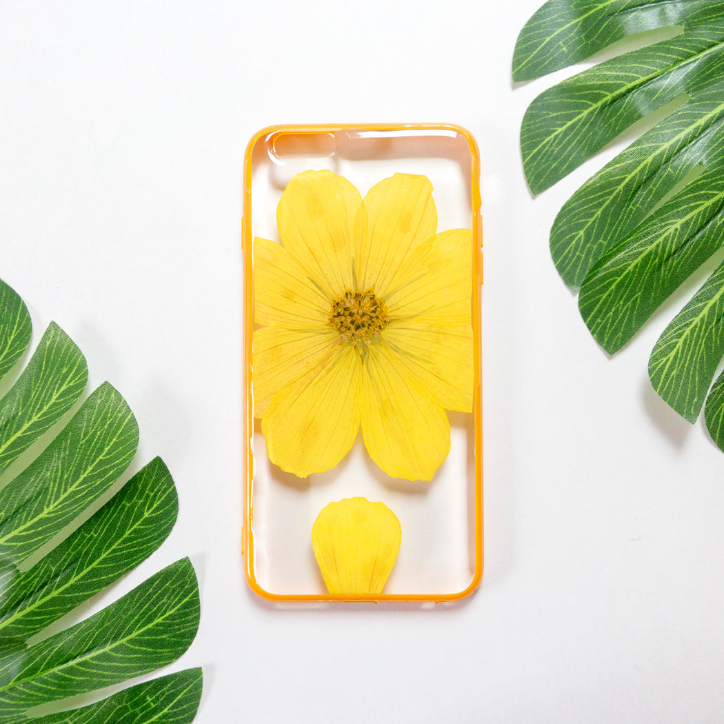 Pineapple Summer | Pressed Flower iPhone Bumper Case | iPhone 6/6s Plus