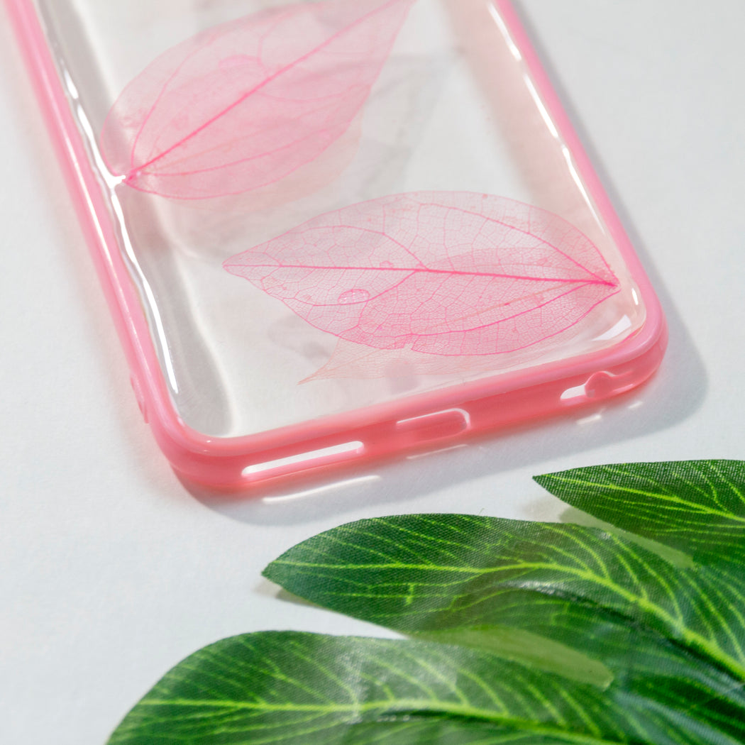 Pink Leaves | Pressed Flower iPhone Bumper Case | iPhone 6/6s Plus