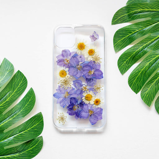 Violet | Pressed Purple Flower iPhone Bumper Case | iPhone 11