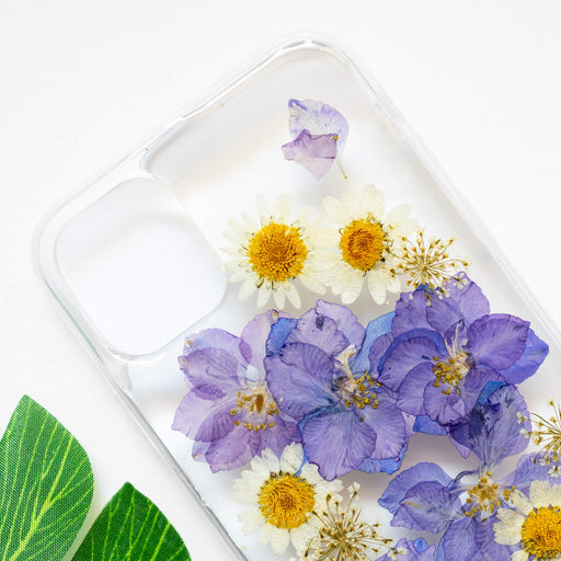 Violet | Pressed Purple Flower iPhone Soft TPU Bumper Case | iPhone 11