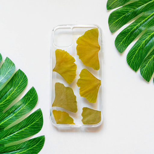 Green Ginkgo | Pressed Flower iPhone Bumper Case | iPhone 11