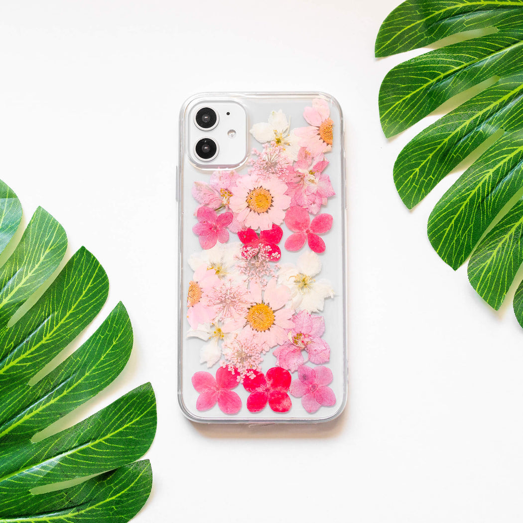 Linnea | Pressed Flower iPhone Soft TPU Bumper Case | iPhone 11