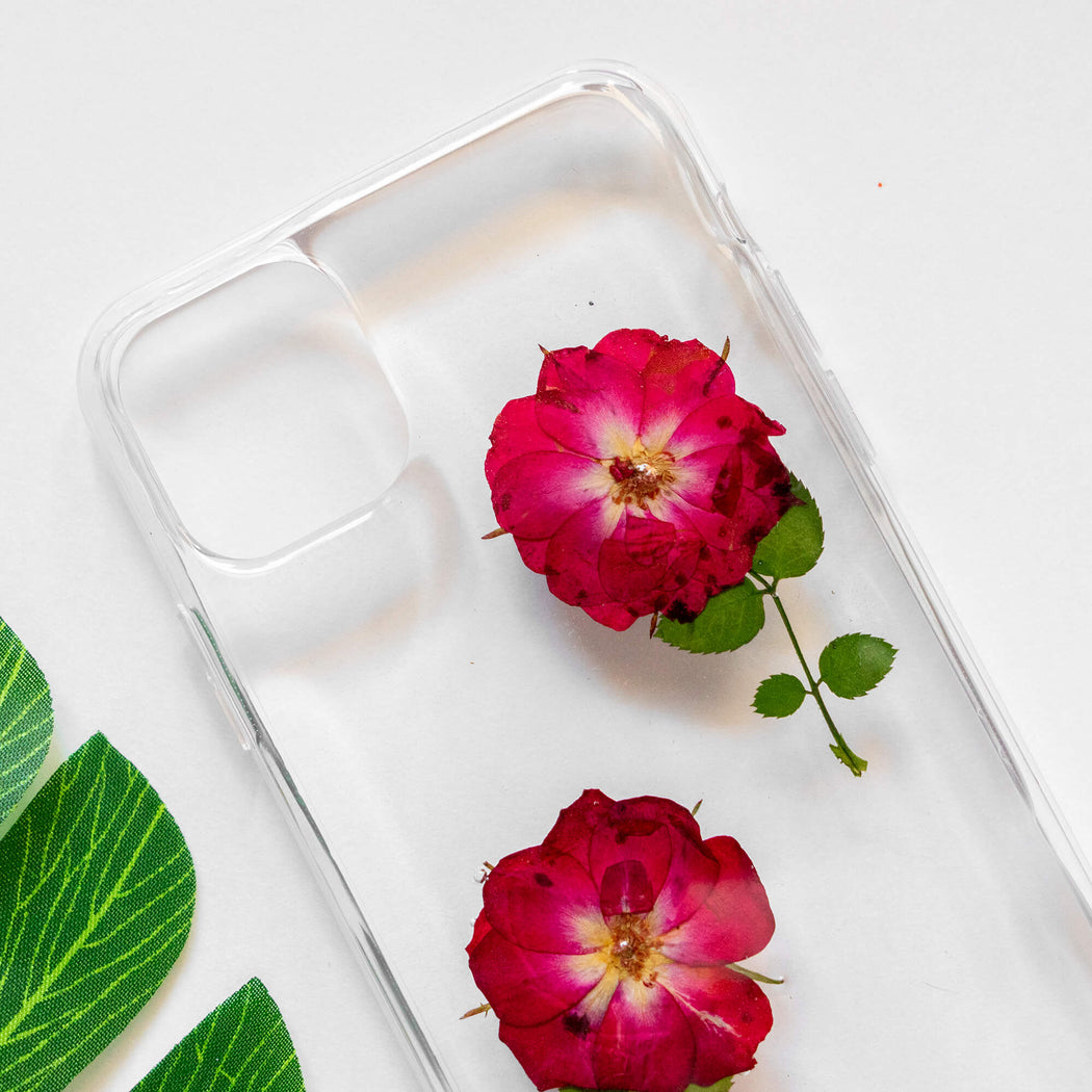 Rose Love | Pressed Flower iPhone Bumper Case | iPhone 11 Pro Max