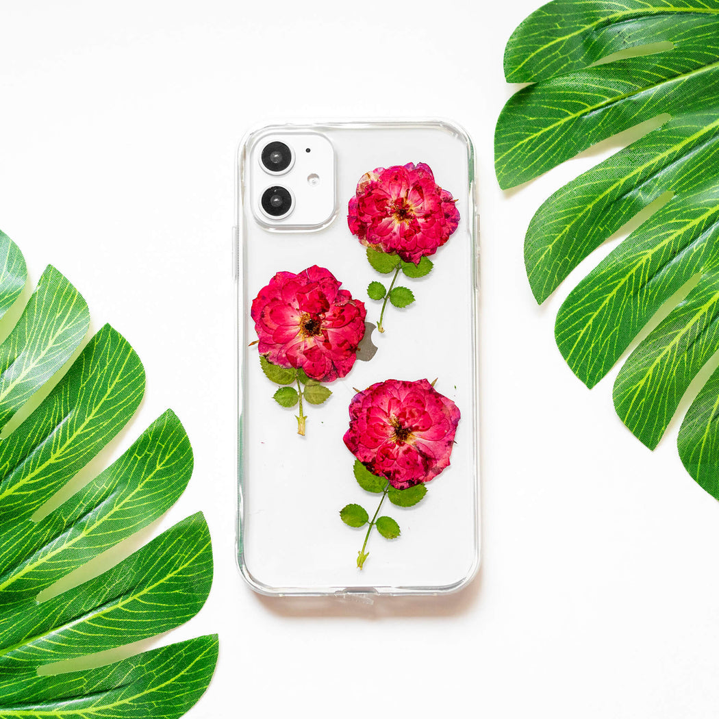 Rose Garden | Pressed Flower iPhone Bumper Case | iPhone 11