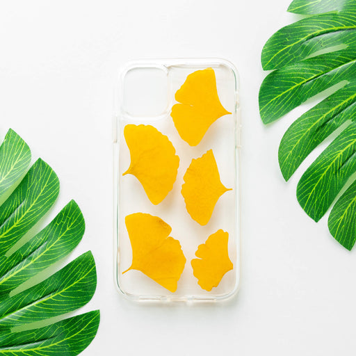 Yellow Ginkgo | Pressed Flower iPhone Bumper Case | iPhone 11
