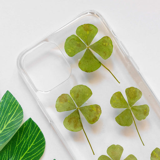 Four Leaf Clover | Pressed Flower iPhone Bumper Case | iPhone 11 Pro