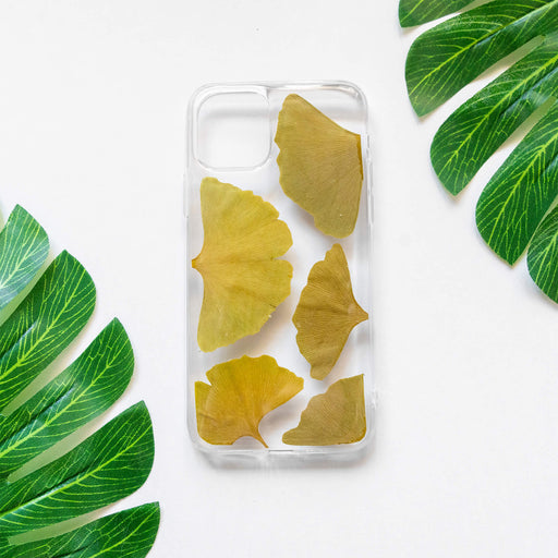 Green Ginkgo | Pressed Flower iPhone Bumper Case | iPhone 11 Pro