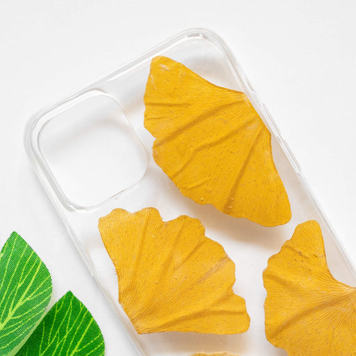 Yellow Ginkgo | Pressed Flower iPhone Bumper Case | iPhone 11 Pro