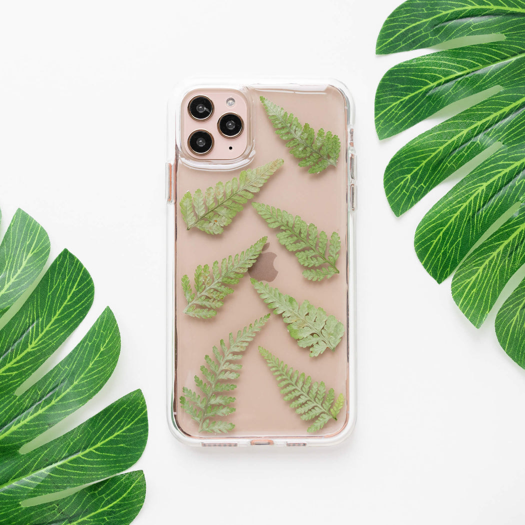 Fern | Pressed Flower iPhone Bumper Case | iPhone 11 Pro Max