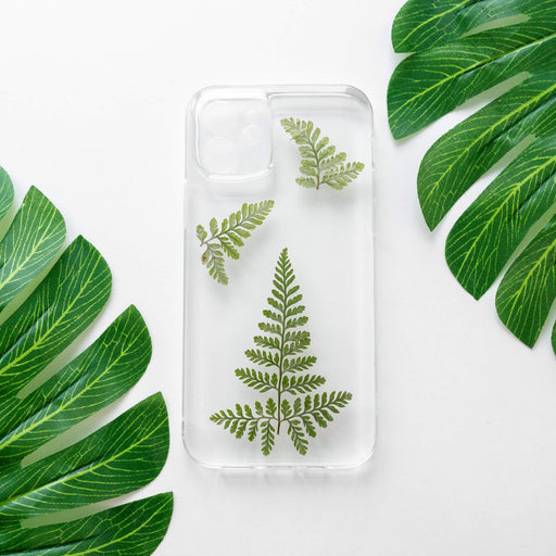 Green Fern | Pressed Flower iPhone Bumper Case | iPhone 12