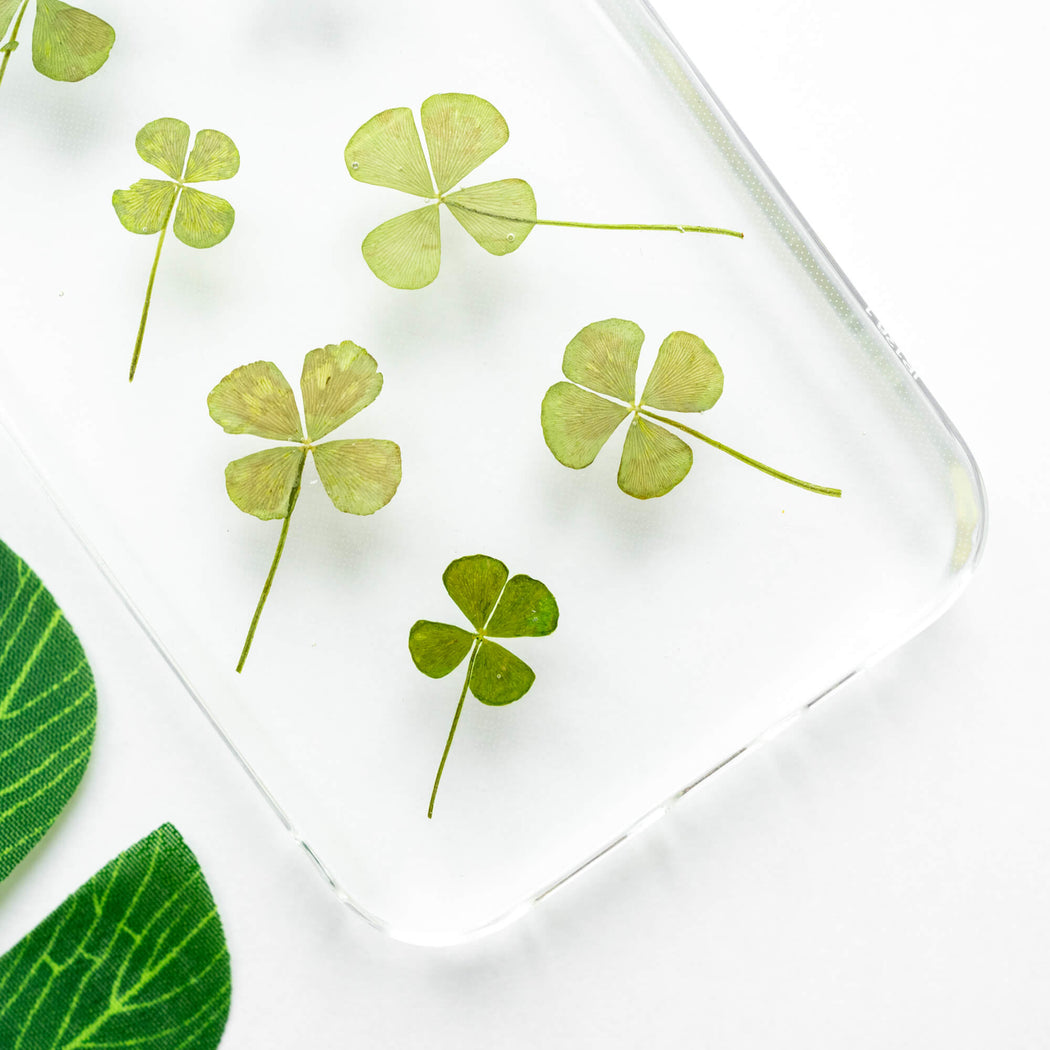 Four Leaf Clover | Pressed Flower iPhone Bumper Case | iPhone 12