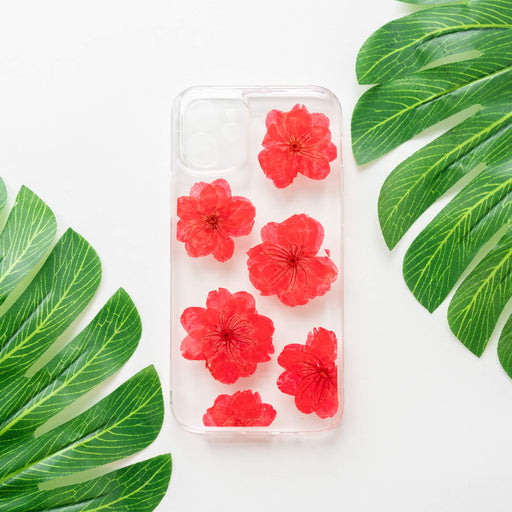 Ruby | Pressed Flower iPhone Bumper Case | iPhone 12