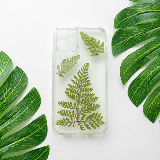 Green Fern | Pressed Flower iPhone Bumper Case | iPhone 12 mini