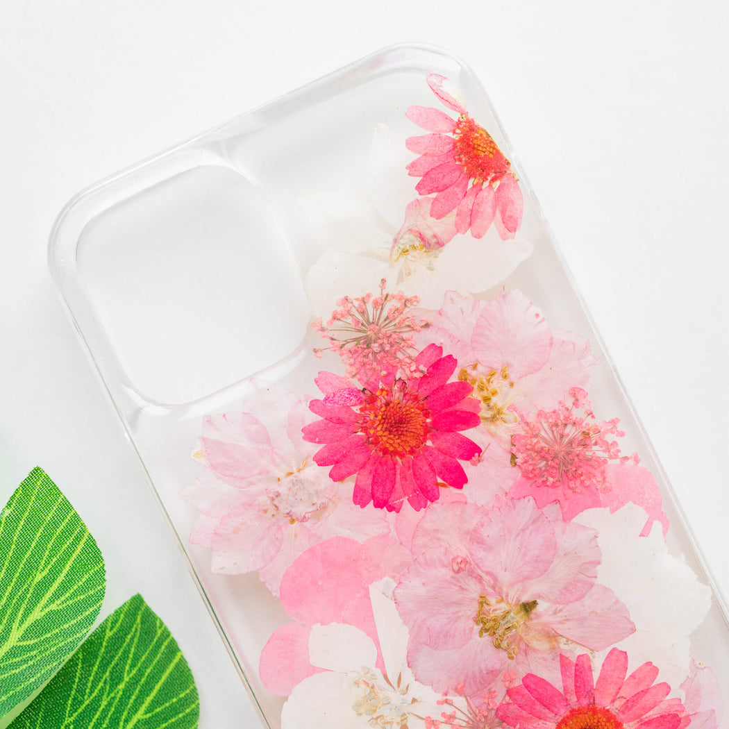 Linnea | Pressed Flower iPhone Bumper Case | iPhone 12