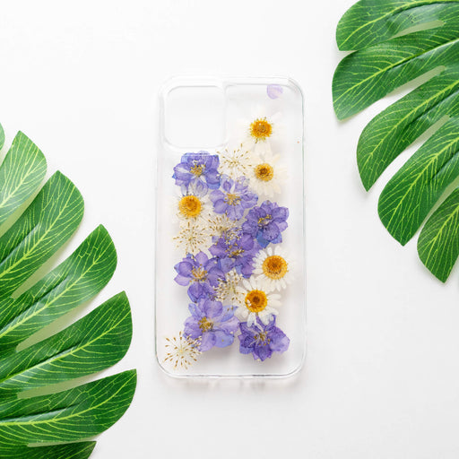Violet | Pressed Purple Flower iPhone Bumper Case | iPhone 12