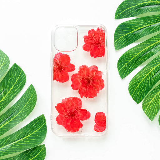 Ruby | Pressed Flower iPhone Bumper Case | iPhone 12 mini