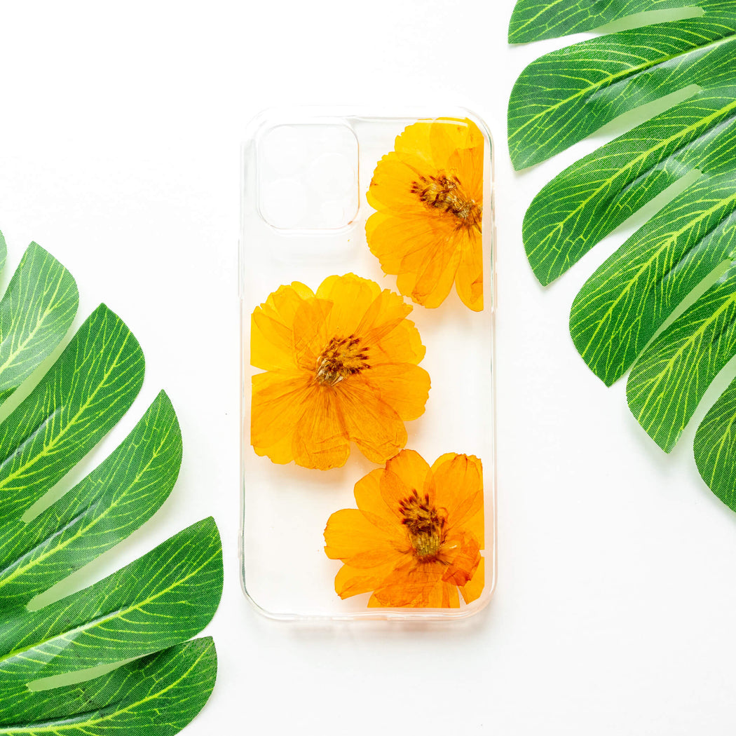 Saffron | Pressed Flower iPhone Bumper Case | iPhone 12 Pro