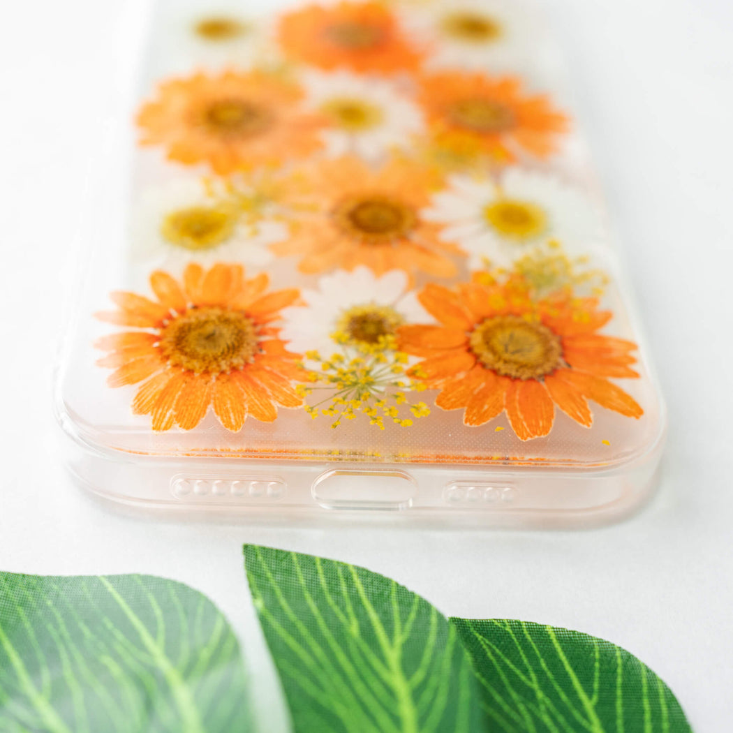 Clementine | Pressed Flower iPhone Bumper Case | iPhone 12 Pro Max