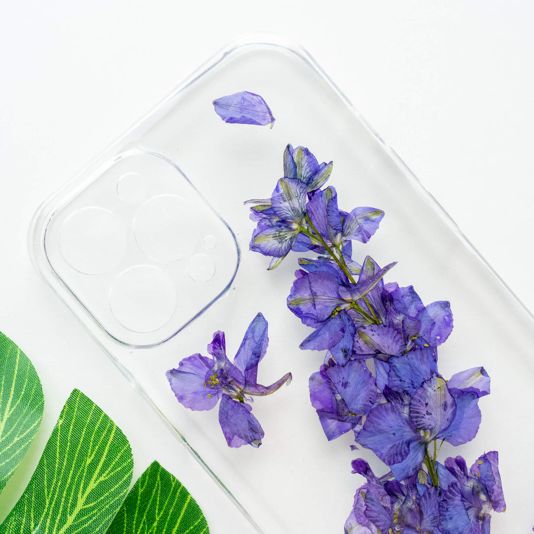 Larkspur | Pressed Flower iPhone Bumper Case | iPhone 12 Pro Max