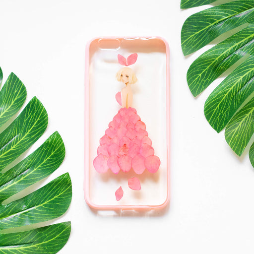Lady Pink | Pressed Flower iPhone Bumper Case | iPhone 6/6s