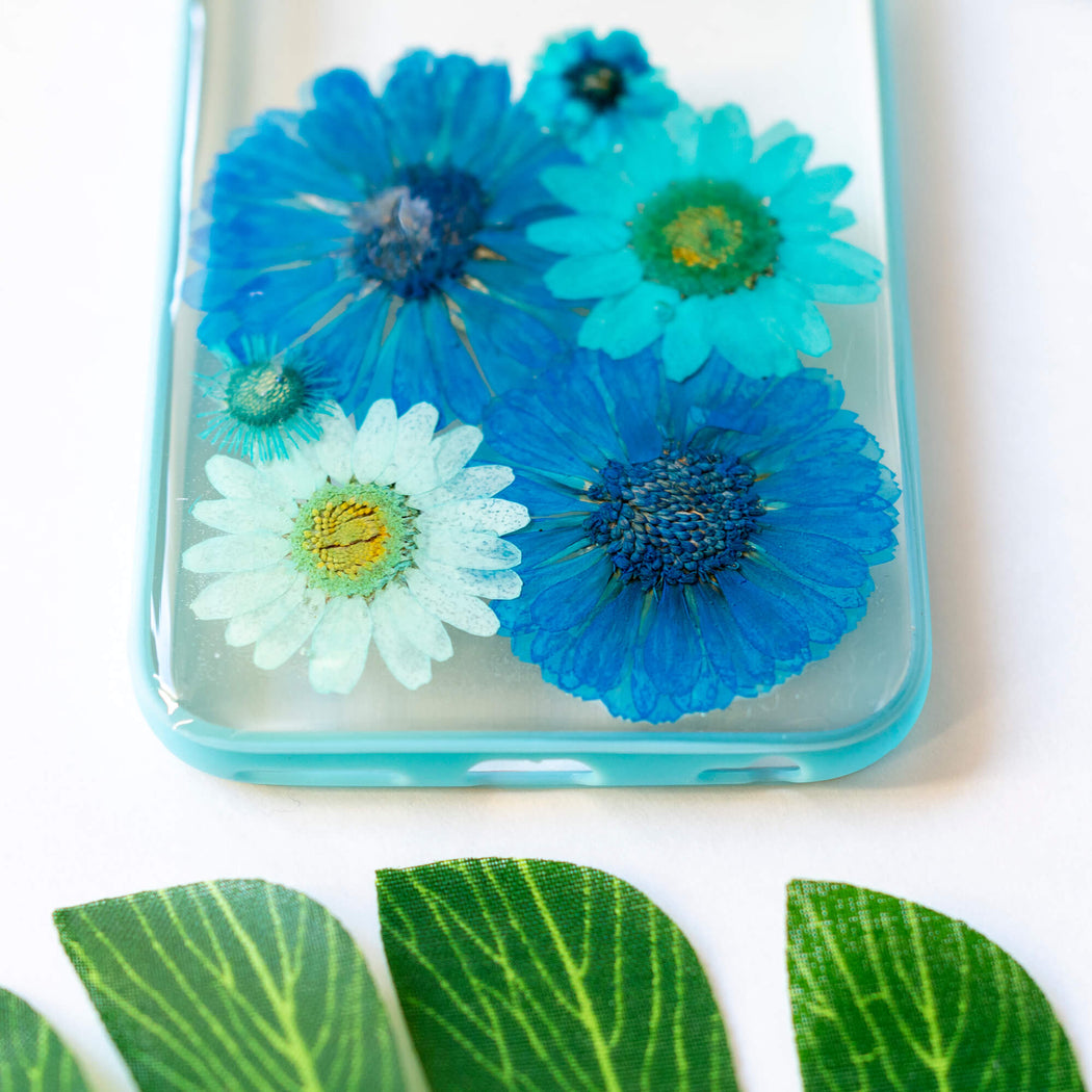 Turquoise | Pressed Flower iPhone Bumper Case | iPhone 6/6s