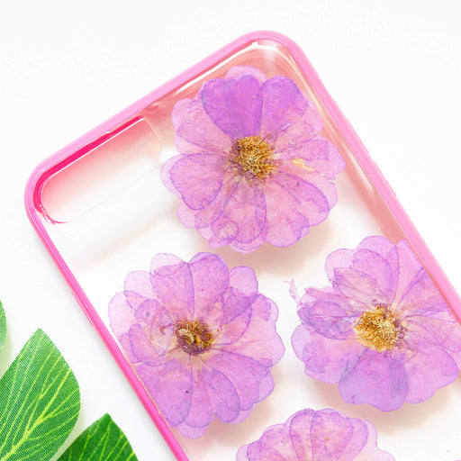 Heather | Pressed Flower iPhone Bumper Case | iPhone 7/8 Plus
