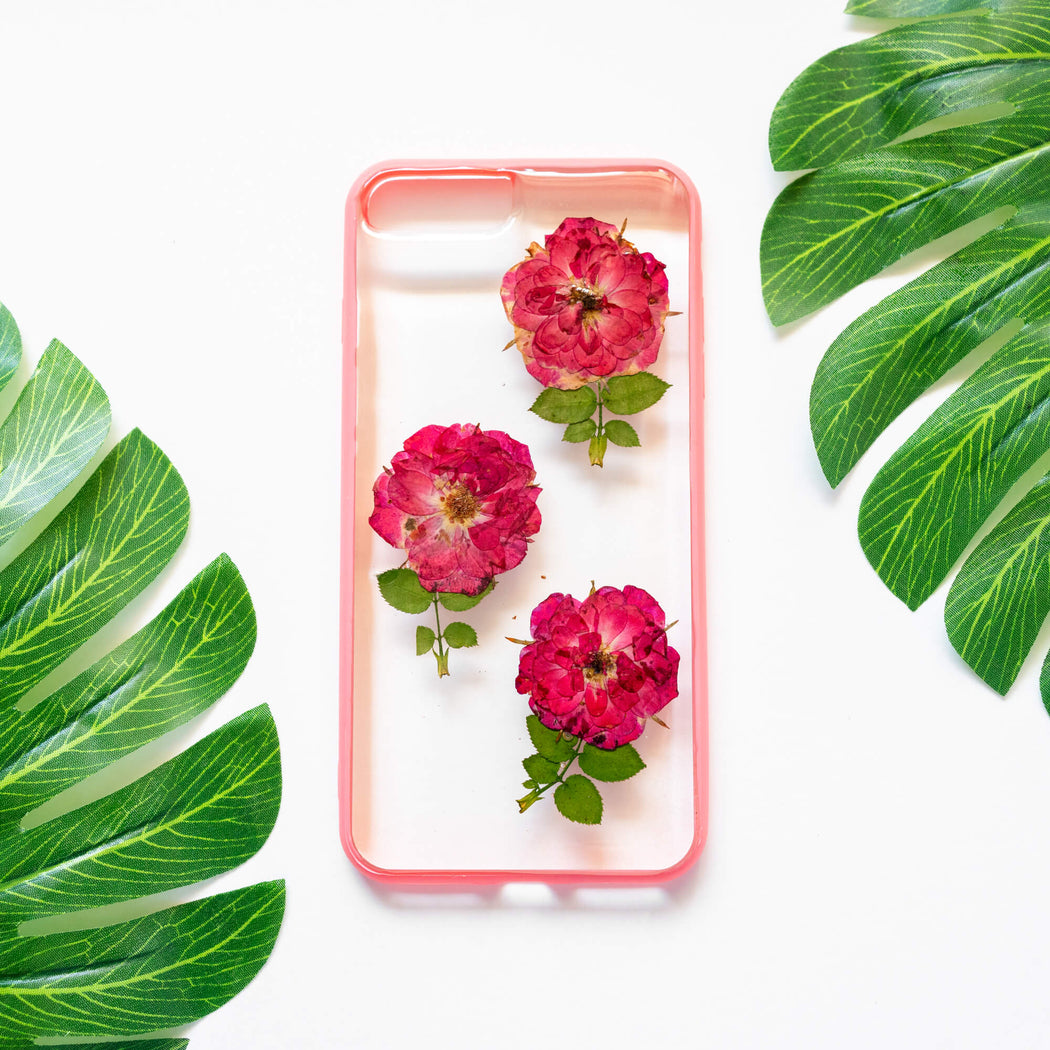 Fall in Love | Pressed Flower iPhone Bumper Case | iPhone 7/8 Plus