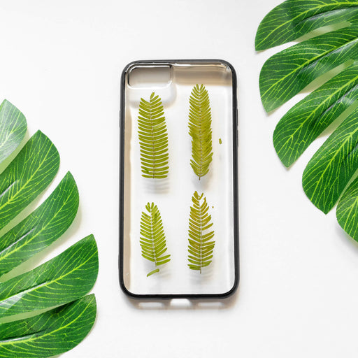 Jade | Pressed Flower iPhone Bumper Case | iPhone 7/8/SE