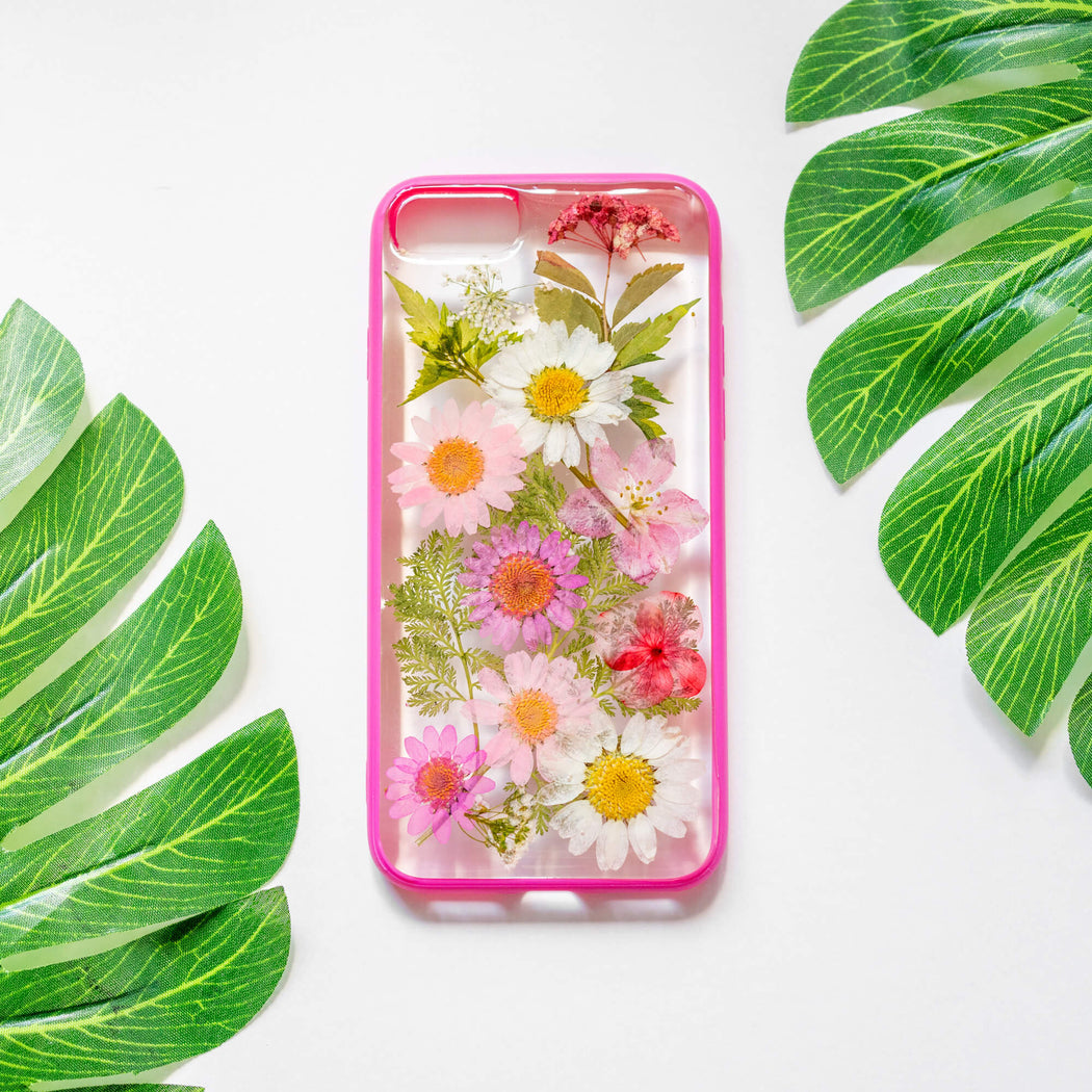 Mulberry | Pressed Flower iPhone Bumper Case | iPhone 7/8/SE