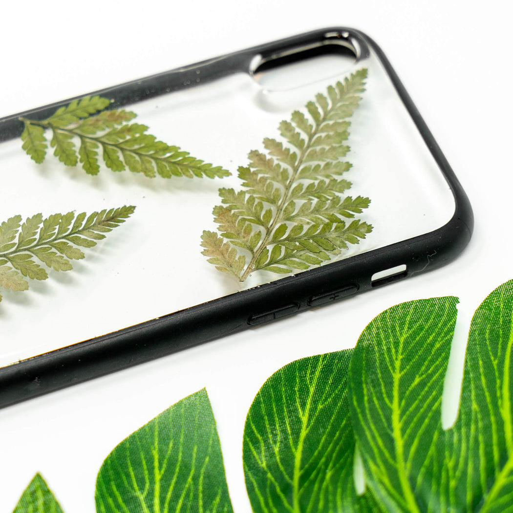 Fern | Pressed Flower iPhone Bumper Case | iPhone X/XS