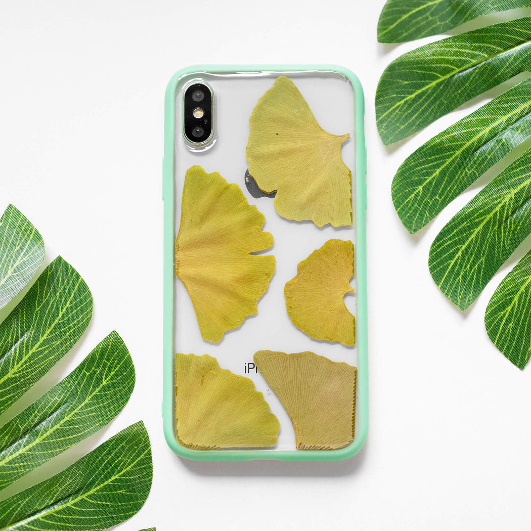 Time Stands Still | Pressed Flower iPhone Bumper Case | iPhone X/XS