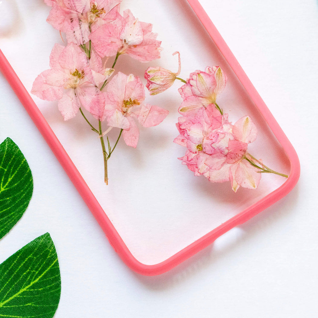 pressed flower iphone x xs case pink cherry blossom floral cute protective iphone case floral neverland floralfy 03