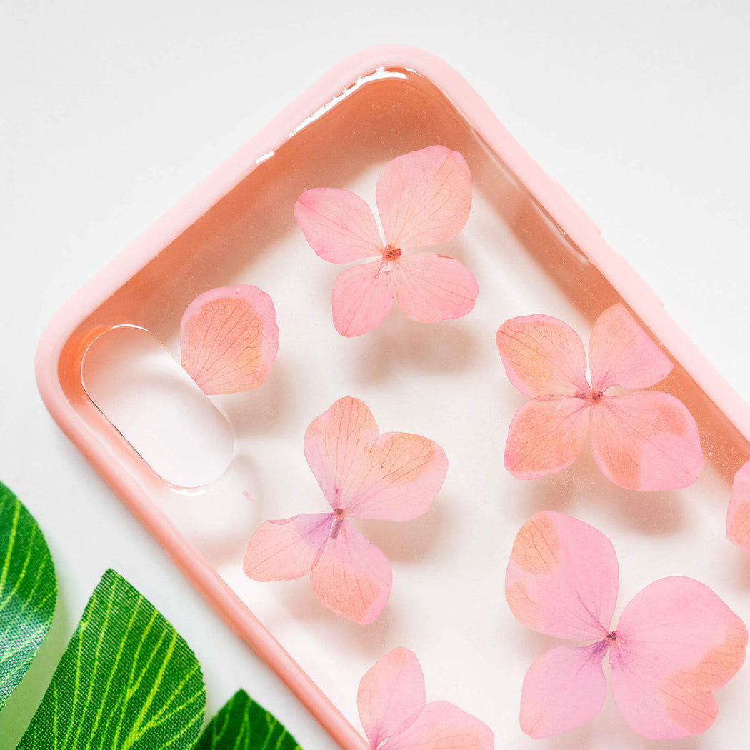 Baby Pink | Pressed Flower iPhone Bumper Case | iPhone X/XS