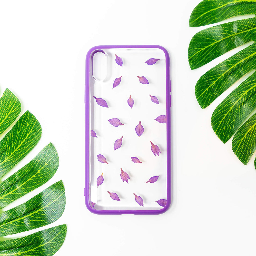 Aster | Pressed Flower iPhone Bumper Case | iPhone X/XS