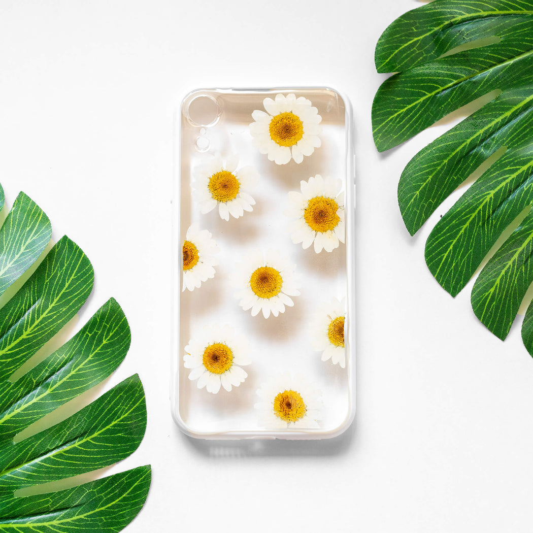 Blanche | Pressed Flower iPhone Bumper Case | iPhone XR