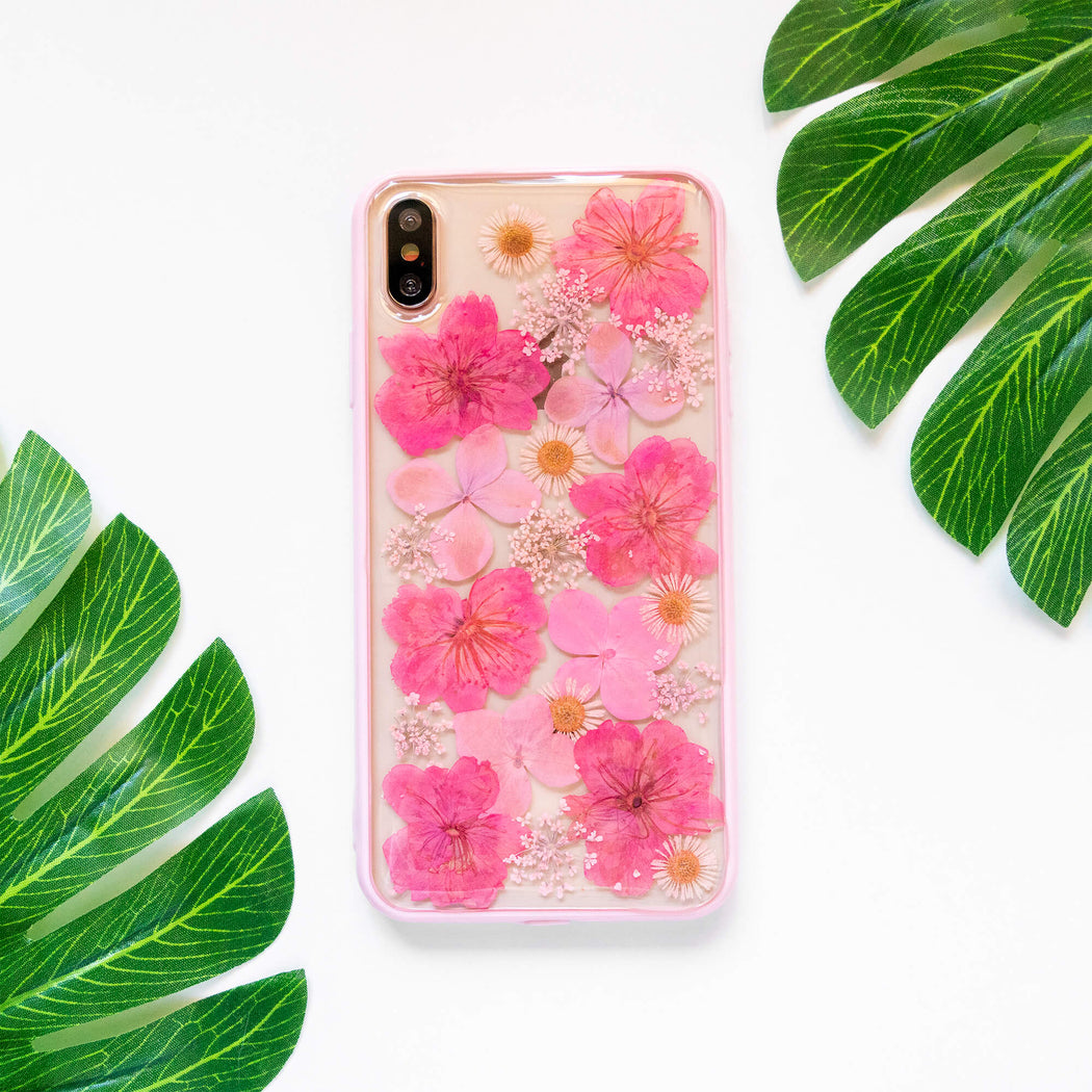 Rouge | Pressed Flower iPhone Bumper Case | iPhone XS Max