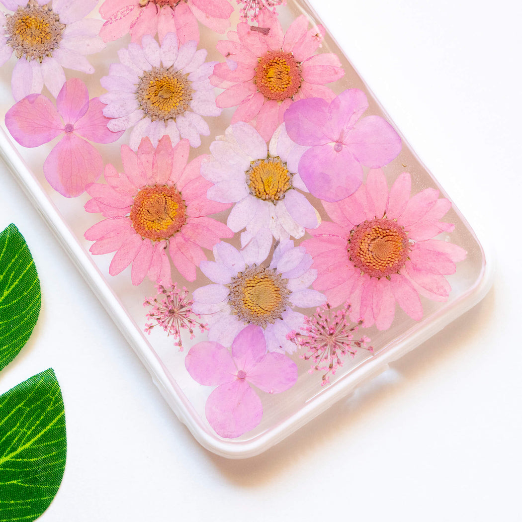 Mauve | Pressed Flower iPhone Bumper Case | iPhone XS Max