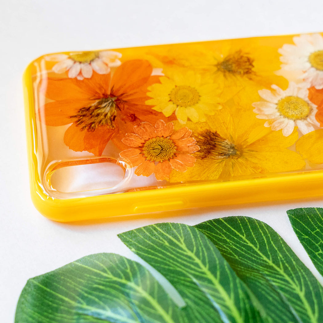 Sunny | Pressed Flower iPhone Bumper Case | iPhone XS Max