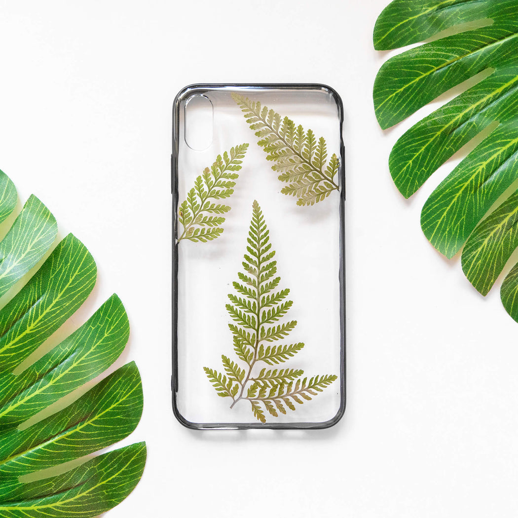 Fern | Pressed Flower iPhone Bumper Case | iPhone XS Max