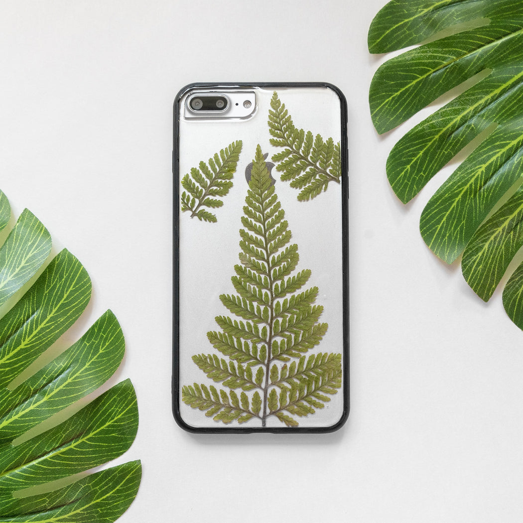 Fern | Pressed Flower iPhone Bumper Case | iPhone 7/8 Plus