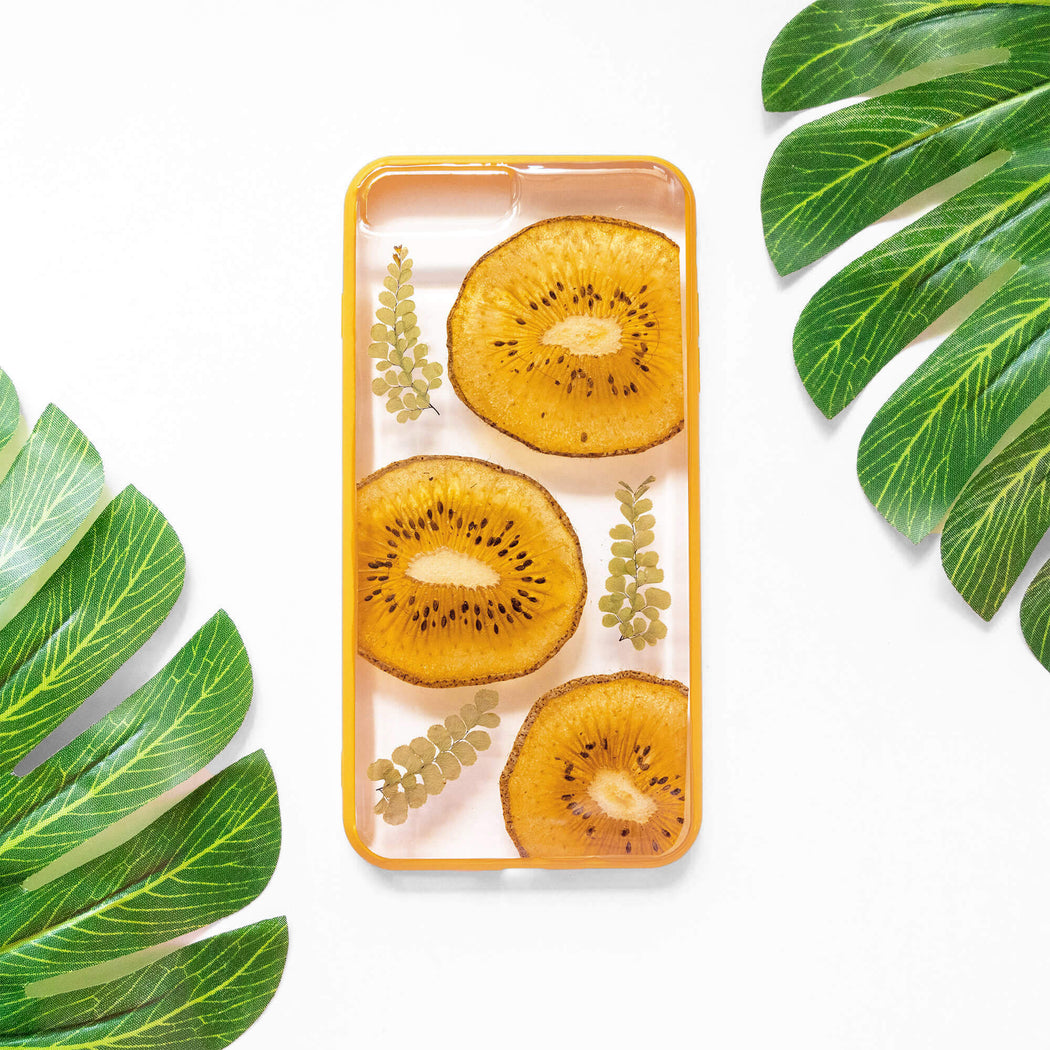 Kiwi | Pressed Flower iPhone Bumper Case | iPhone 7/8 Plus