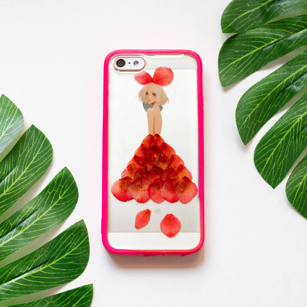 Lady in Red | Pressed Flower iPhone Bumper Case | iPhone 5/5s/SE