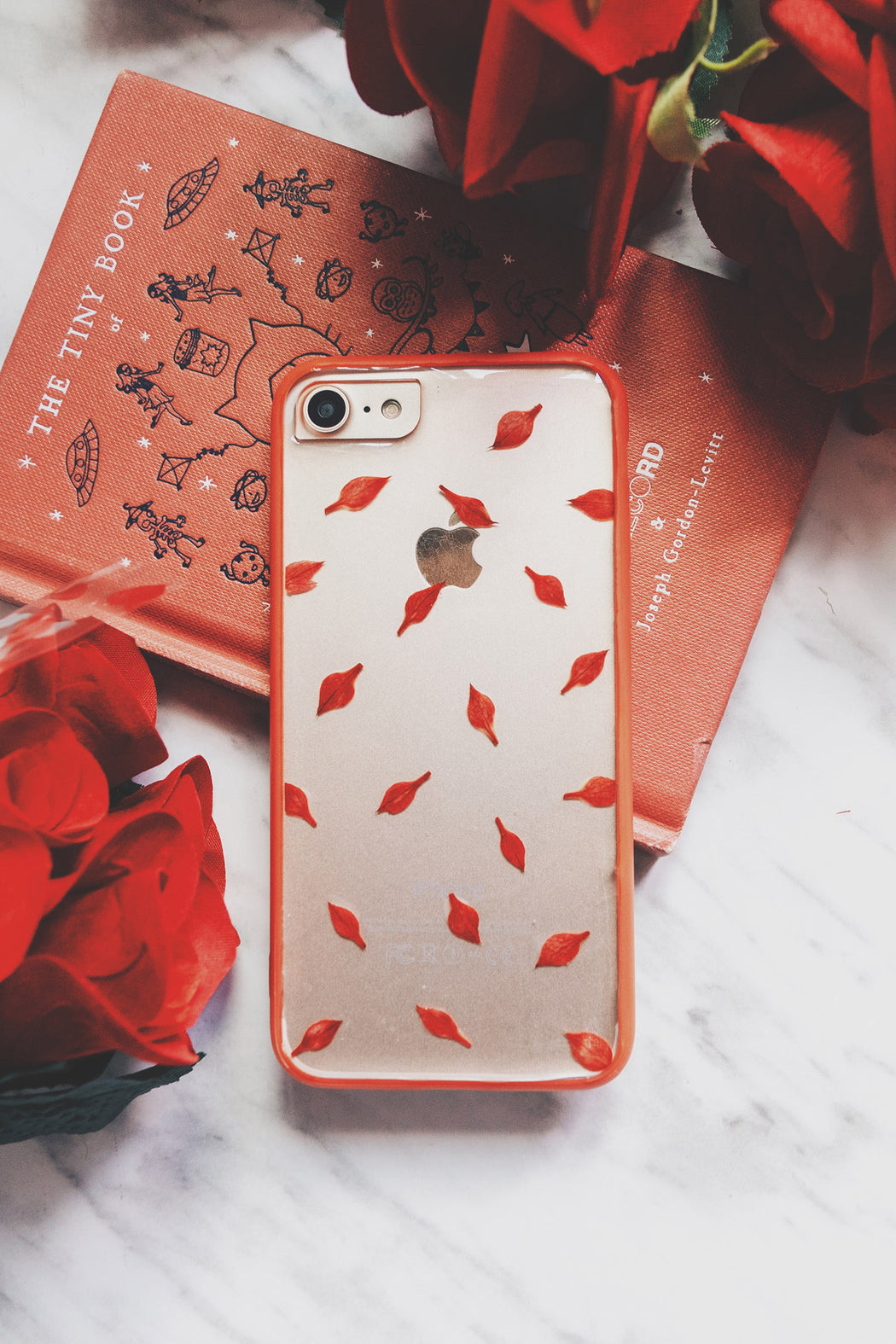 pressed red flower cute protective floral iphone 7 8bumper case aesthetic love is fire floral neverland floralfy