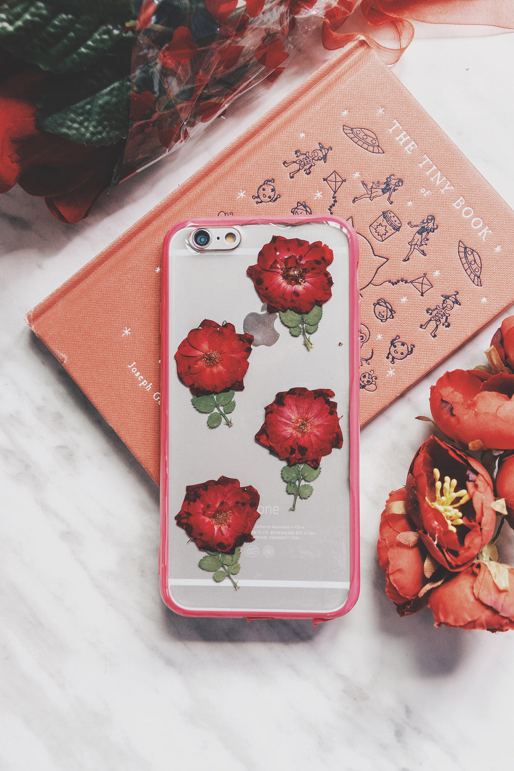 pressed red rose flower cute protective floral iphone 6 6s bumper case aesthetic rosie floral neverland floralfy